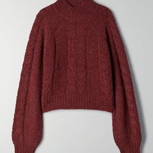 Aritzia Sunday Best Melly Cropped Brown Sweater S